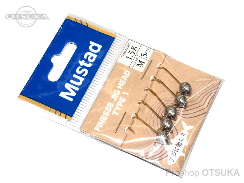マスタッド フィネスジグヘッド フィネスジグヘッド タイプ1 1.5g フックサイズ#M #ー