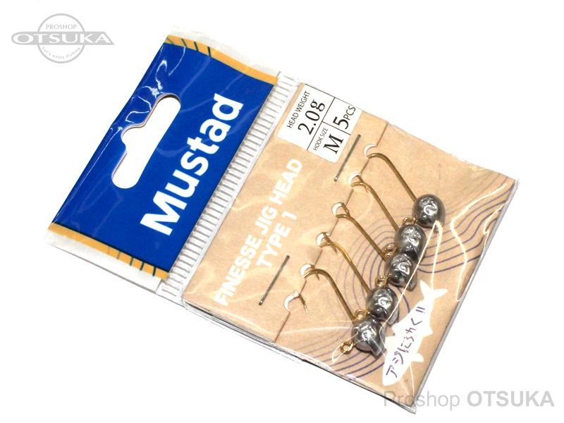 マスタッド フィネスジグヘッド フィネスジグヘッド タイプ1 2.0g フックサイズ#M #ー