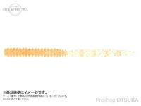 バークレイ パワーベイト - バブルリーチ 2.5インチ #クリアオレンジシルバーオレンジフレーク 2.5インチ 6.3cm