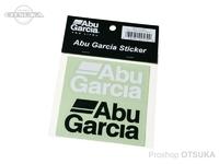 アブガルシア ABU カッティングステッカー L - - #ホワイト/ブラック 80mm