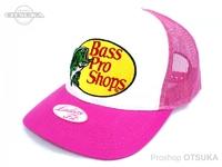 バスプロショップス キャップ - バスプロメッシュ #ピンク レディースフィット