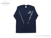 ゲーリーヤマモト ゲーリーロングスリーブTシャツ -  #ネイビー Mサイズ(日本サイズL)