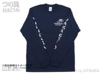 ゲーリーヤマモト ゲーリーロングスリーブTシャツ -  #ネイビー L(日本サイズLL)
