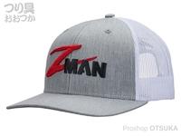 Z-NAN ジーマン ハット - ストラクチャー #グレー/ホワイト フリーサイズ