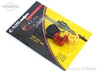 カルコーストフィッシング クリップ - カリ #黄赤黒 3サイズ