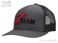Z-NAN ジーマン ハット - ストラクチャー #グレー/ブラック フリーサイズ