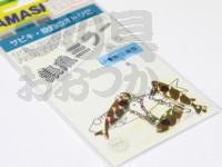 ヤマリア 集魚ミラー -  魚型 #金 S