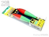 ヤマリア 浮スッテ - 4-T2 #F/赤緑 4.0号