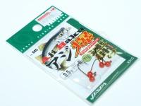ヤリエ ジグヘッド - アジ爆ヘッド速掛け ヘッド部カラー レッド 0.5g フックサイズ#8
