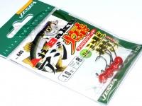 ヤリエ ジグヘッド - アジ爆ヘッド速掛け ヘッド部カラー レッド 1.0g フックサイズ#8