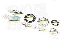 タックルインジャパン ハード転写ステッカー鮎 -  TIJロゴ サイズ/タテ100mm×ヨコ295mm TIJ ロゴ