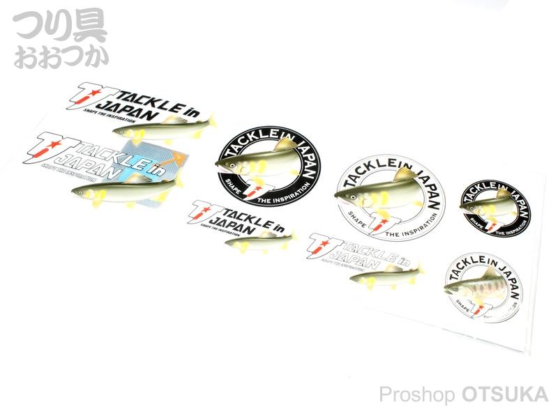 タックルインジャパン ハード転写ステッカー鮎 ハード転写ステッカー鮎 TIJロゴ TIJ ロゴ サイズ/タテ100mm×ヨコ295mm