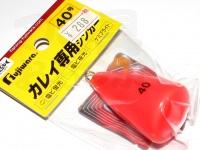 フジワラ カレイ専用シンカー -  #蛍光レッド 40号
