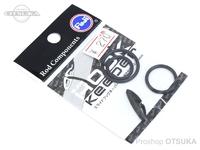 冨士工業 フックキーパー - スライド 3SHKM #ブラック 適合竿径/12-25mm