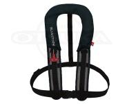 高階救命器具 自動膨張式救命胴衣  - BSJ-8320RS #ブラック サイズフリー サスペンダータイプ