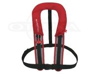 高階救命器具 自動膨張式救命胴衣  - BSJ-8320RS #レッド サイズフリー サスペンダータイプ