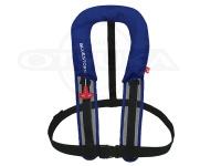 高階救命器具 自動膨張式救命胴衣  - BSJ-8320RS #ブルー サイズフリー サスペンダータイプ