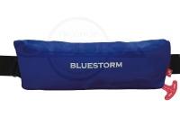 高階救命器具 自動膨張式救命胴衣  - BSJ-9320RS #ブルー サイズフリー ウエストベルトタイプ
