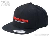 メガバス キャップ - サイキックスナップバック #ブラック/レッド フリーサイズ