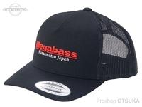 メガバス キャップ - クラッシックトラッカー #ブラック/レッド フリーサイズ