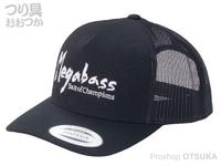 メガバス キャップ - ブラッシュトラッカー #ブラック/ホワイト フリーサイズ