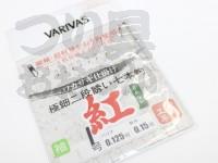 バリバス 極細二段誘い7本鈎 紅 -   鈎1号 ハリス0.125 幹糸0.15号