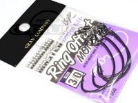 モーリス フッキングマスター ワームフック - フッキングマスター リングオフセット モンスター - #3/0 スイベル付き