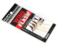 バリバス アシストフック - オーシャンワークス ウィングフラッシュ ゼロフリクションコート サイズ #1 アシストリーダー91lb