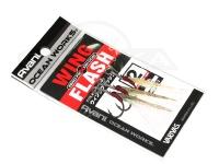 バリバス アシストフック - オーシャンワークス ウィングフラッシュ ゼロフリクションコート サイズ #2 アシストリーダー91lb