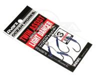 バリバス アシストフック - オーシャンワークス ツインアシストライトダンサー ゼロフリクションコート サイズ #3 アシストリーダー57lb