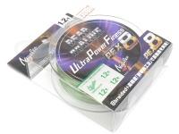 バリバス デッドオアアライブ - ウルトラパワーフィネスPE X8 #ダークグリーン&モーショングリーン 1.2号(MAX23lb) 150m巻き