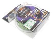 バリバス デッドオアアライブ - ウルトラパワーフィネスPE X8 #ダークグリーン&モーショングリーン 1.5号(MAX31lb) 150m巻き