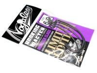モーリス フッキングマスター ワームフック - フッキングマスター リミテッドエディション モンスタークラス - サイズ #6/0 アンチラストゼロフリクションコート