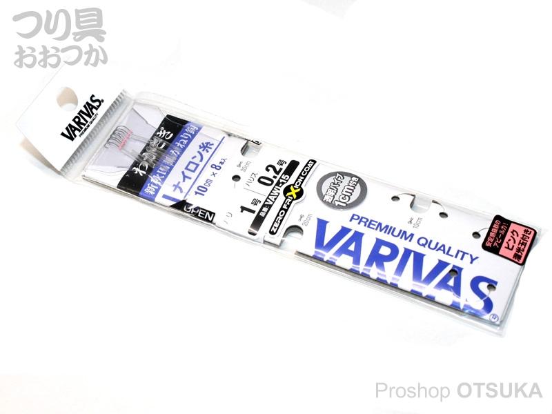 バリバス わかさぎ 糸付鈎 VAWI-15 鈎1号 ハリス0.2号 ナイロン糸  -