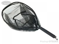 ムカイ アルミショートネット -  #ブラック 全長62cm 網内径45×37cm 深さ約27cm