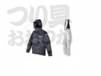 パズデザイン アウターウェア - SLR-011 オールウェザースーツ3 ネイビー×アイスグレー サイズ 3L