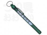 パズデザイン アルマイト水温計 - ZAC-921 #グリーン 約13cm