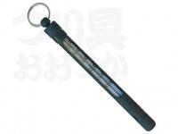 パズデザイン アルマイト水温計 - ZAC-921 #ブラック 約13cm