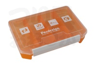 パズデザイン SAC-017 PSLルアーケース -  オレンジクリアー サイズ W204×H140×D34mm