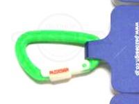 パズデザイン PSLカラビナ(ルミロック) - PAC-215 #BK/グリーン サイズL