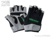 パズデザイン 5フィンガーレスドライグローブ - PGV-024 #ブラック/グリーン XL
