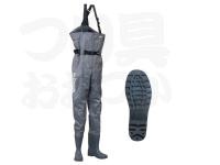パズデザイン PVCブーツチェストハイウェーダーRD - PPW-452 #グレー Sサイズ