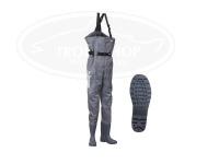 パズデザイン PVCブーツチェストハイウェーダーRD - PPW-452 #グレー XLサイズ