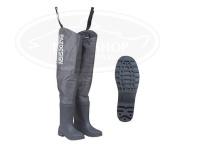 パズデザイン PVCブーツヒップウェーダーRD - PPW-453 #グレー XLサイズ