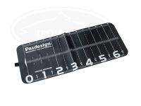 パズデザイン PAC-285 プロテクトメジャー65 - PAC-285 #ブラック/ホワイト 30×74cm(メジャーサイズ65cm)