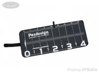 パズデザイン PAC-297 プロテクトメジャー40 - PAC-297 #ブラック/ホワイト 20×48cm (メジャーサイズ40cm)