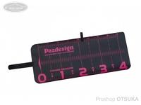 パズデザイン PAC-297 プロテクトメジャー40 - PAC-297 #ブラック/ピンク 20×48cm (メジャーサイズ40cm)