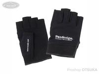 パズデザイン 5フィンガーレスクールドライグローブII - PGV-038 #ブラック/ホワイト L