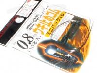 ラインシステム ウキ止めゴム - ミニパック10 #ブラック 0.8号用