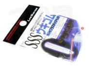 ラインシステム ウキゴム - カン付プラスチックヘッド #クリア SSSサイズ 内径0.5mm